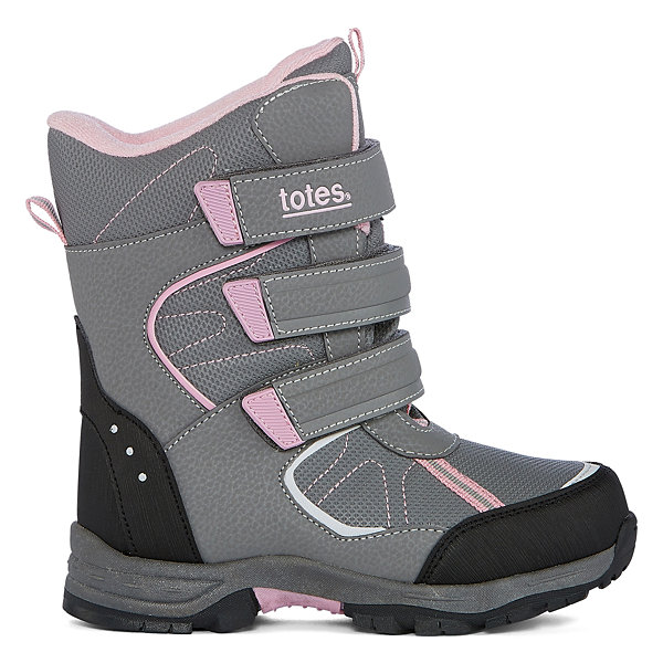 Totes Harper Girls Water Resistant Winter Boots - Little Kids/Big Kids
