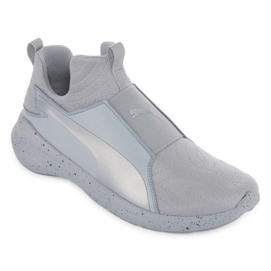 Puma Rebel Mid Womens Training Shoes Pull-on