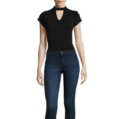 by&by Short Sleeve Bodysuit-Juniors