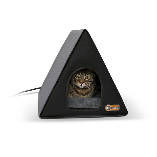 "K & H Manufacturing Heated A-Frame Gray/Black 18"" x 14"" - 20 Watts"