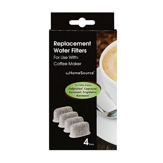 HomeSource ™ 4 Pack Replacement Water Filters for Coffee Makers