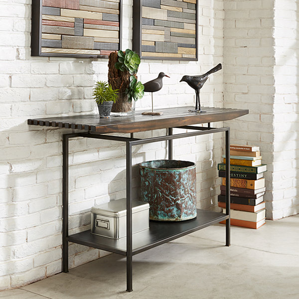 Slat Console Table