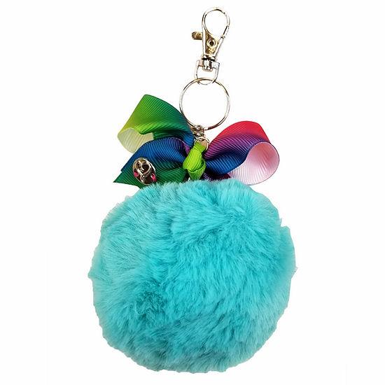 JoJo Siwa Turquoise Pom Keychain
