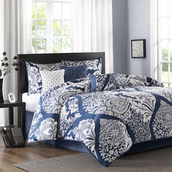 Madison Park Marcella Contemporary 7-pc. Cotton Printed Comforter Set