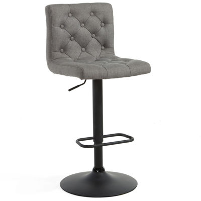 Hydraulic Lift Linen 2-pc. Tufted Swivel Bar Stool