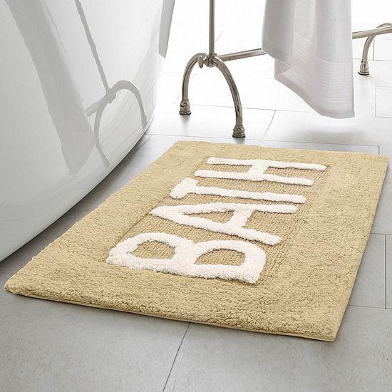Creative Home Word Cotton 21x34 Bath Rug