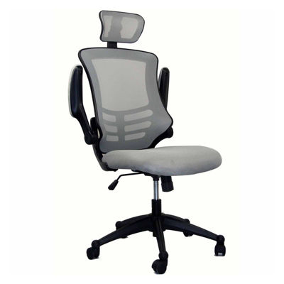 Techni Mobili Modern High Back Executive With Flip Up Arms Office Chair