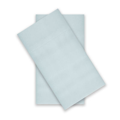JCPenney Home™ 300tc 100% Cotton Percale Ultra Soft Solid and Print 2-Pack Pillowcases