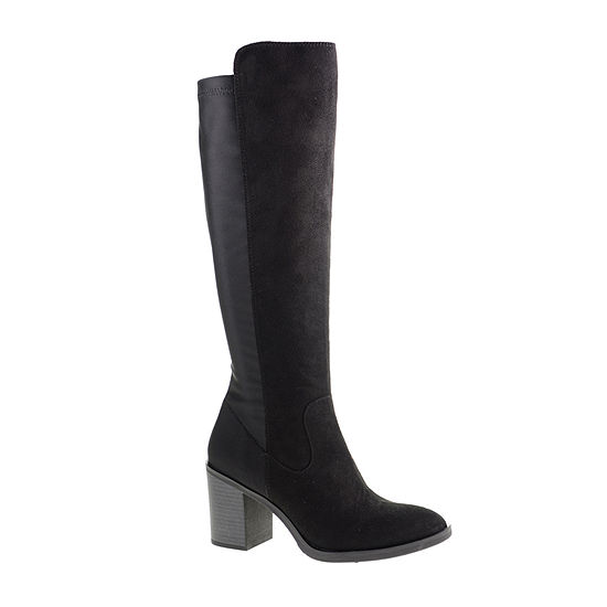 CL by Laundry Womens Karma Over the Knee Block Heel Boots