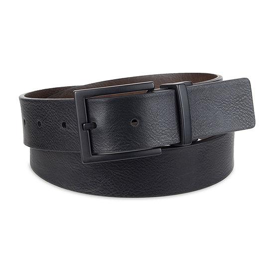 JF J.Ferrar® Reversible Men's Belt with Metal Keeper