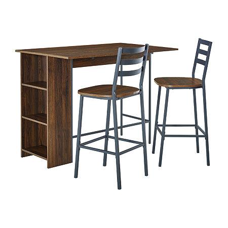 3-pc. Counter Height Rectangular Dining Set