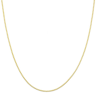 "Made in Italy 14K Yellow Gold 18"" Box Chain Necklace"