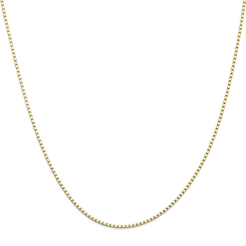 """Made in Italy 14K Yellow Gold 20"""" Box Chain Necklace"""