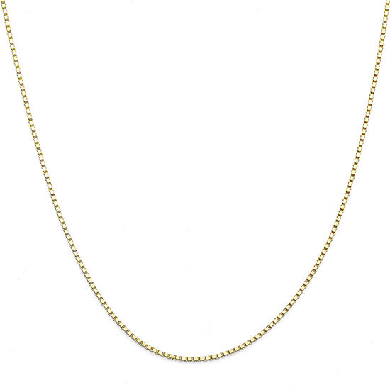 "14K Yellow Gold 20"" Box Chain Necklace"