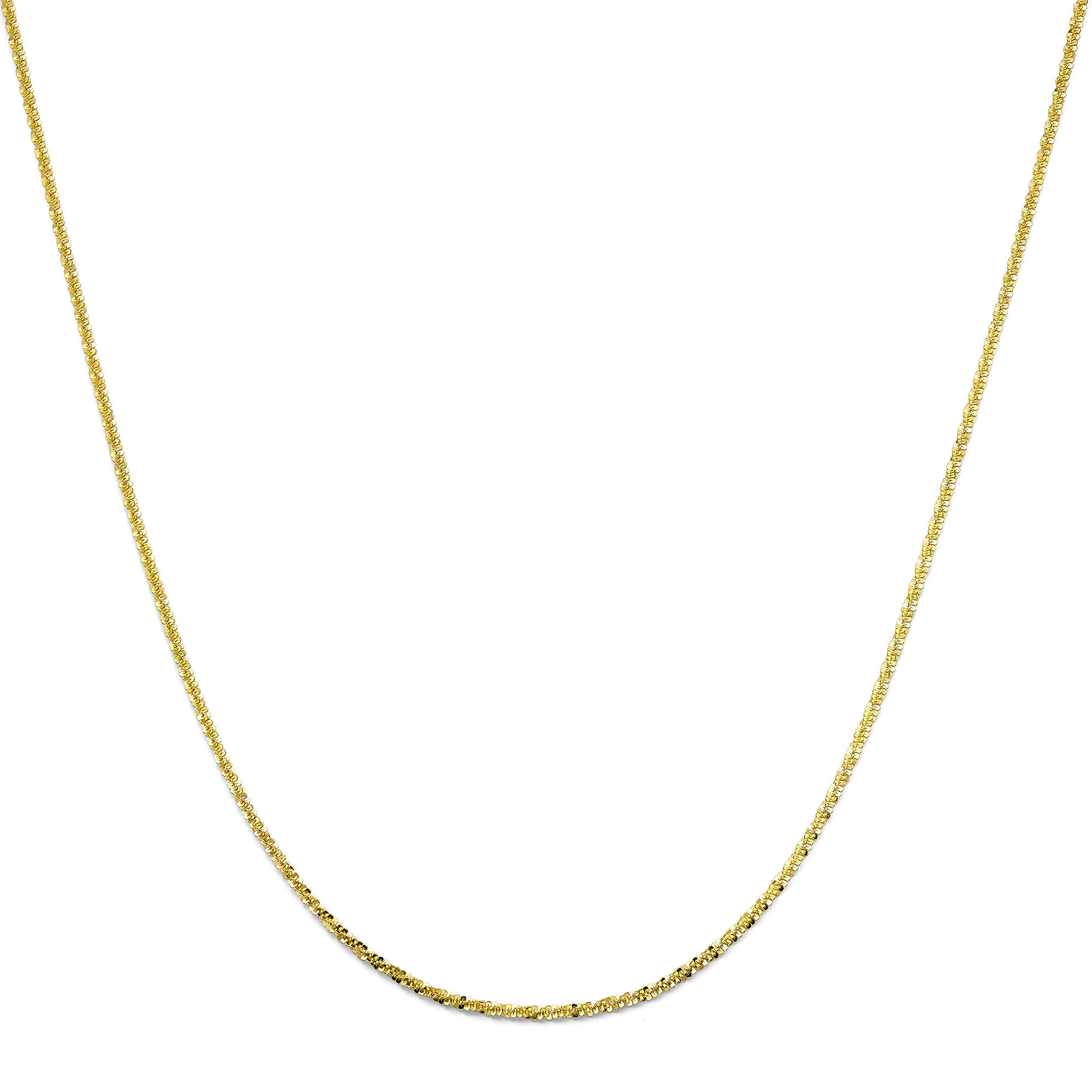 Made in Italy 18K Gold Over Sterling Silver Criss-Cross Chain Necklace