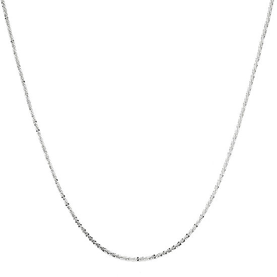 Made In Italy Sterling Silver Criss Cross Chain Necklace