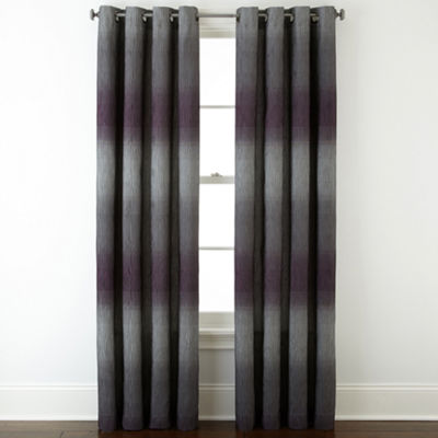 Liz Claiborne Dakota Two-Tone Lined Grommet-Top Curtain Panel
