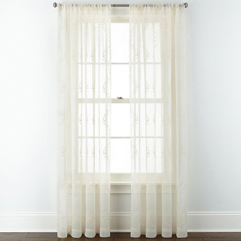 Liz Claiborne® Whitley Rod-Pocket Sheer Panel