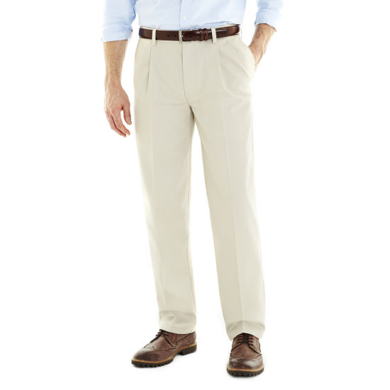 St. John's Bay® Worry Free Comfort-Ease Relaxed-Fit Pleated Pants