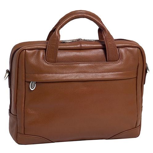 """McKleinUSA Bridgeport 15.6"""" Leather Large Laptop Briefcase"""