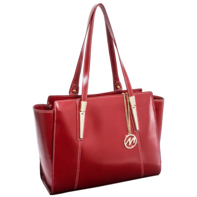 McKleinUSA Aldora Leather Tote with Tablet Pocket