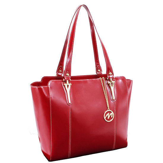 McKleinUSA Alicia Leather Tote with Tablet Pocket