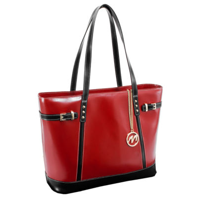 McKleinUSA Serafina Leather Tote with Tablet Pocket