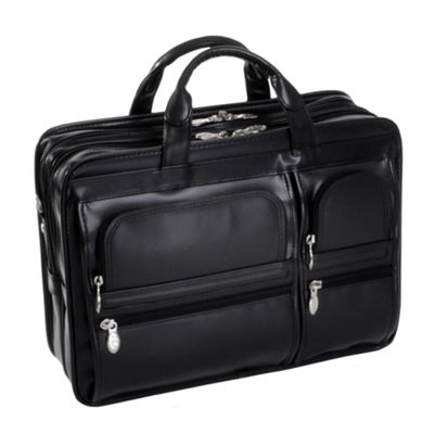 "McKleinUSA Hubbard 15.6"" Leather Double Compartments Laptop Briefcase"