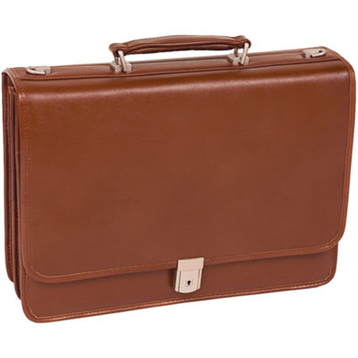 "McKleinUSA Lexington 15.6"" Leather Flapover Double Compartment Briefcase"