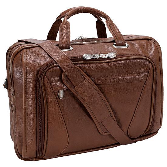 "McKleinUSA Irving Park 15.6"" Leather Double Compartment Laptop Briefcase"