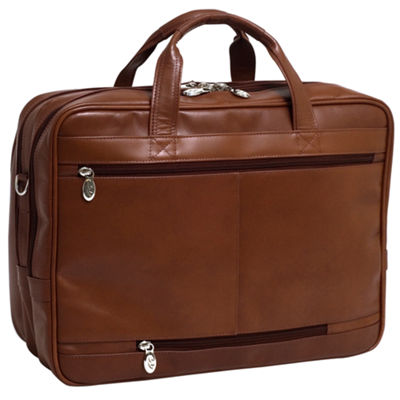 "McKleinUSA Rockford 15.6"" Leather Fly-Through™ Checkpoint-Friendly Laptop Briefcase"