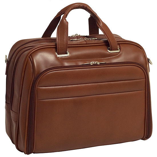 "McKleinUSA Springfield 15.6"" Leather Fly-Through™ Checkpoint-Friendly Laptop Briefcase"