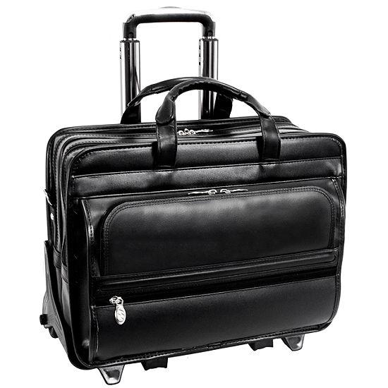 "McKleinUSA Franklin 15.6"" Leather Detachable Wheeled Laptop Briefcase"