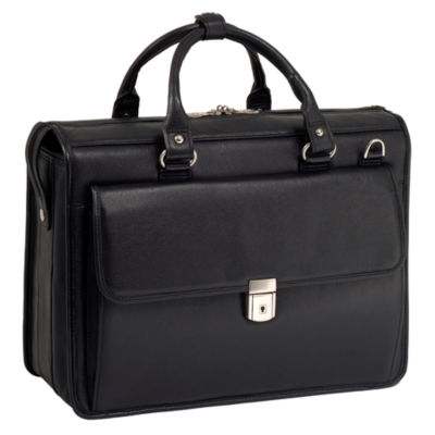 """McKleinUSA Gresham 15.6"""" Leather Litigator Laptop Briefcase"""