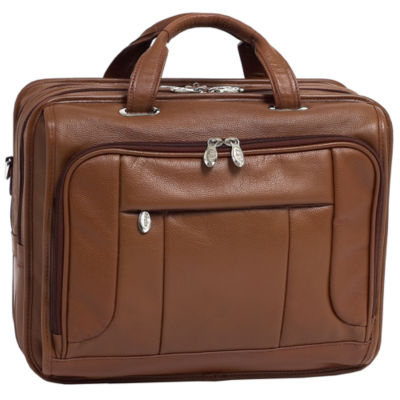 """McKleinUSA River West 15.6"""" Leather Fly-Through Checkpoint-Friendly Laptop Briefcase"""