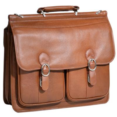 "McKleinUSA Hazel Crest 15.4"" Leather Double Compartment Laptop Briefcase"