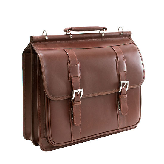 """McKleinUSA Signorini 15.4"""" Leather Double Compartment Laptop Briefcase"""