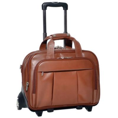 "McKleinUSA Damen 17"" Leather Detachable -Wheeled Laptop Briefcase"