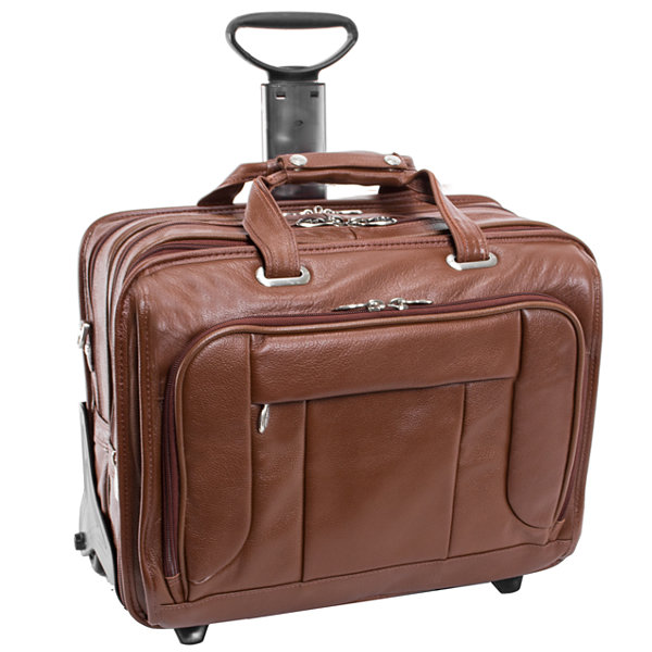 "McKleinUSA West Town 15.6"" Leather Fly-Through Checkpoint-Friendly Detachable -Wheeled Laptop Briefcase"