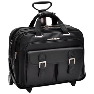 "McKleinUSA Ceresola 15.6"" Leather Checkpoint-Friendly Detachable -Wheeled Laptop Briefcase"