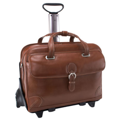 "McKleinUSA Carugetto 15.4"" Leather Detachable -Wheeled Laptop Briefcase"
