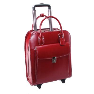 """McKleinUSA Uptown 15.4"""" Leather Vertical Wheeled Laptop Briefcase"""