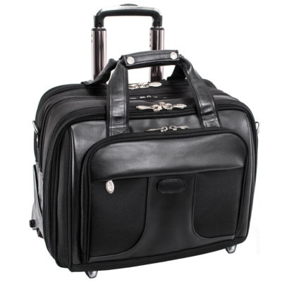 """McKleinUSA Chicago 15.6"""" Nylon Detachable -Wheeled Laptop Overnight with Removable Briefcase"""