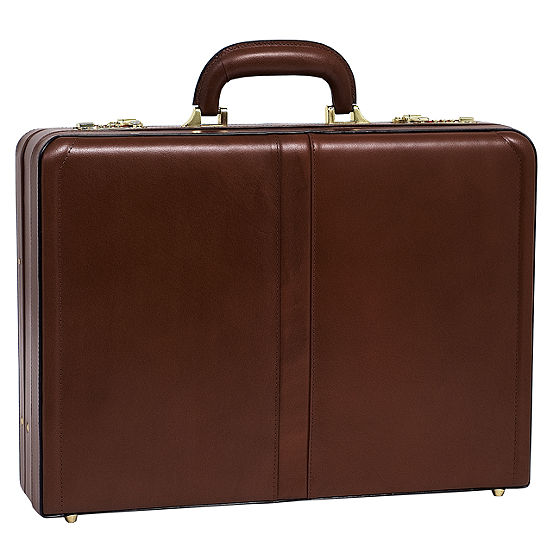 "McKleinUSA Harper Leather 4.5"" Expandable Attaché Briefcase"