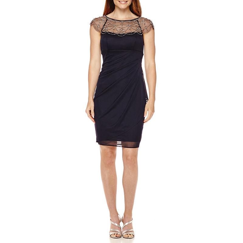 UPC 808593897973 - Xscape Beaded Neck Sheath Dress   upcitemdb.com