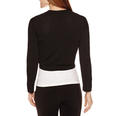Ronni Nicole 3/4-Sleeve Toggle Closure Shrug