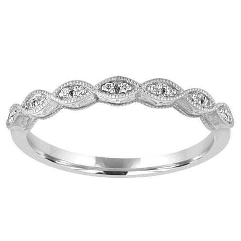 Womens Diamond Accent Genuine White Diamond 10K Gold Wedding Band