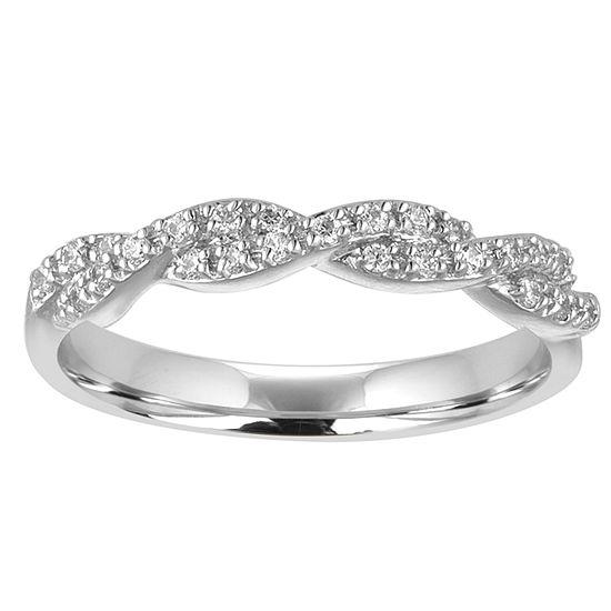 Womens 2mm 1 5 Ct Tw Genuine White Diamond 10k Gold Wedding Band