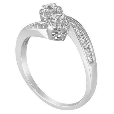 Two Forever Womens 1/2 CT. T.W. Round White Diamond 10K Gold Engagement Ring