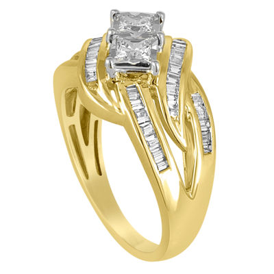 Two Forever Womens 1 CT. T.W. Genuine White Diamond 10K Gold Engagement Ring
